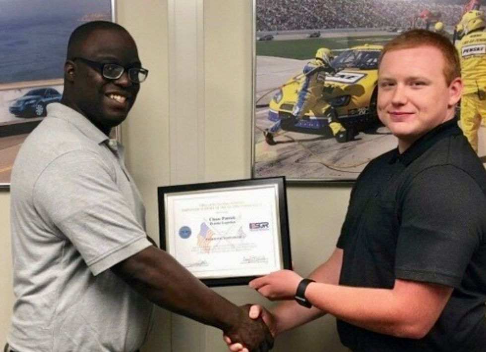 Penske Logistics Supervisor Presented with Patriot Award