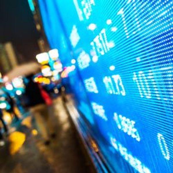 Market data screen