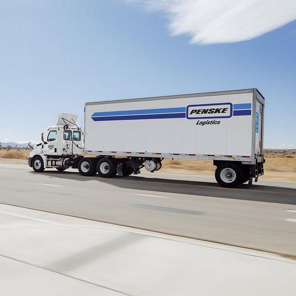 Penske Truck Driving on Highway