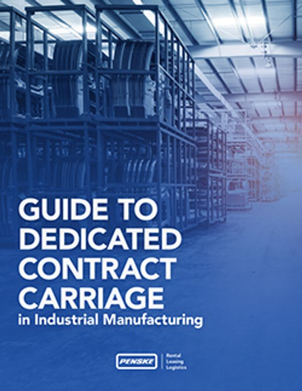 Guide to Dedicated Contract Carriage in the Manufacturing Industry Cover Page